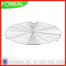 12.5 pouces rondes en acier inoxydable grille de refroidissement