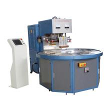 Máquina de solda automática de alta frequência com plataforma giratória