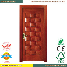 Puerta principal madera puerta plegable de PVC puerta PVC madera MDF