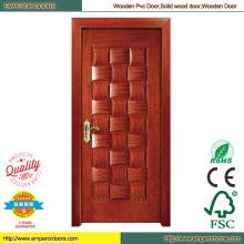 Bois MDF PVC porte PVC porte pliante en bois porte principale