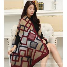 Moda nova venda mulheres cachecol mangas ponchos com mangas para as mulheres
