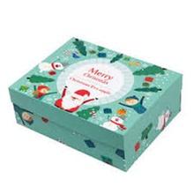 Festival de Navidad Cajas de papel Caja de pastel de galletas de caramelo