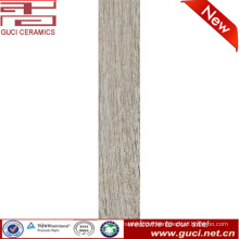 foshan factory price gray wood texture ceramic wood finish tile