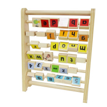 kids educational wooden letters and number