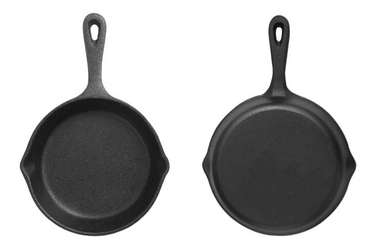 vegetable oil cast iron fry pan
