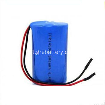 6.4 v 500mAh duplo AA as baterias de lítio