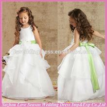 HF3001 vestidos casuais imagem flor vestido menina brithday vestido para bebé