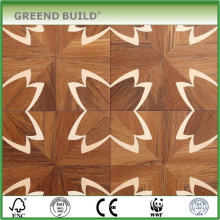 Flower Pattern Finiished Modern Solid Wood Parquet Flooring For Sale