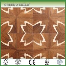 Teste padrão de flor Finiished Revestimento moderno do parquet da madeira maciça para a venda