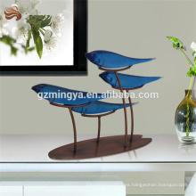 Electroplate artesanía de alta decoración gruesa polyresin ornamento pescado afortunado elemento decorativo