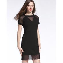 mais recente estilo europa verão boa qualidade mulheres vestido