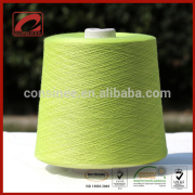 Hot sale bright green color nm2/80 100 cashmere glow in dark yarn