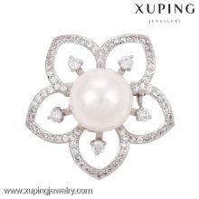 Gran broche de perlas de diamantes en color plata turca 00013-xuping