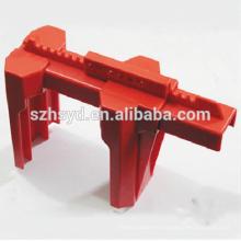 Aprobar CE duradero y duradero plástico, alta temperatura de 180 grados de resistencia de bloqueo de la válvula de bola