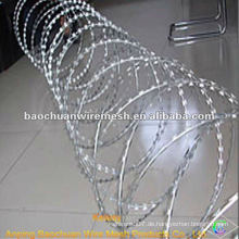BTO-10 Silber concertina Rasiermesser Stacheldraht