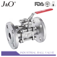 3PC Flanged End Ball Valve with Direct Mounting Pad JIS 10k