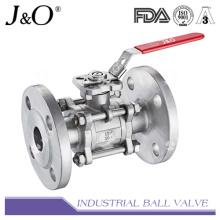 Válvula de esfera de extremidade flangeada 3PC com almofada de montagem direta JIS 10k