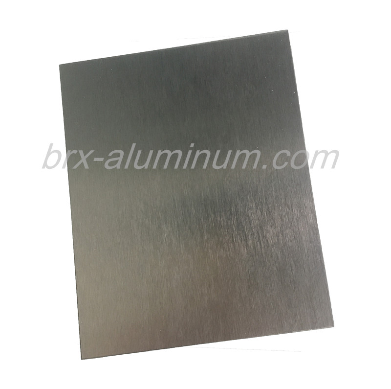 Anodized brushed aluminum sheet