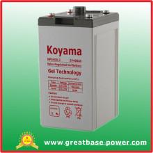 Batterie hybride de batterie du gel 400ah 2V pour l'équipement de télécommunication