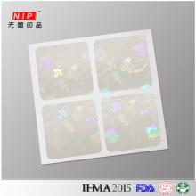 2cm Square Transparent Hologram Sticker with Company Logo