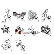 Customized 316L Surgical Steel Tragus Piercings