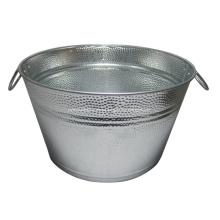 Cubo de hielo para barbacoa ovalado de champán galvanizado