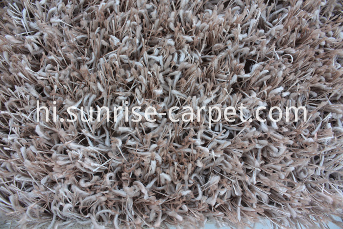 Polyester Two yarn mix Shaggy Rug plain color