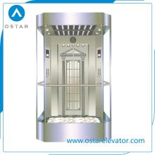 Ascenseur de passager d'observation de verre de 800kg ~ 1600kg 1.0m / S