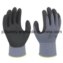 Nylon Work Glove with Superfine Foam Nitrile Dipping (N1554)
