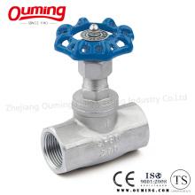 Нержавеющая сталь с прямым резьбовым клапаном (200WOG)
