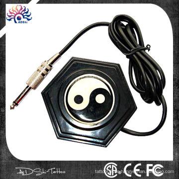Klassische chinesische Stil 360 Runde Ying-Yang Tattoo Fußpedal mit langen Draht-Stecker