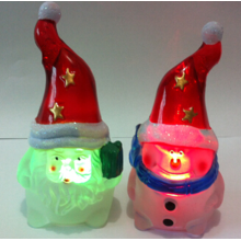 Color Led Navidad Night Lights para Santa y muñeco de nieve luces