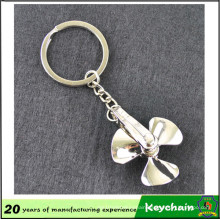 Factory Price Blank Metal Fan Shape Keychain Wil Logo or Not