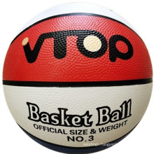 Red White Blue Rubber Basketball for Sporting