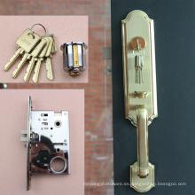 Venta al por mayor Backset de la cerradura de puerta en la placa de oro acabada