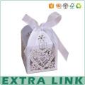 Laser Cut Paper Wedding Custom Logo Favor Chocolate Candy Box with Handle