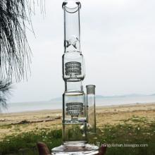 Double Swirl Straight mais recente estilo de vidro de fumar cachimbo de água (ES-GB-283)