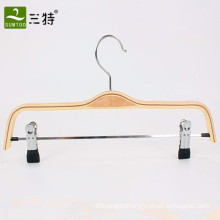 wholesale laminated wood pant hangers with clips