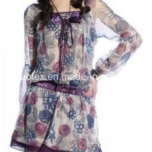 Mousseline imprimée de polyester pour la robe
