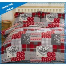 Schneeflocke-Thema-Polyester-Bettbezug-Bettwäsche-Set