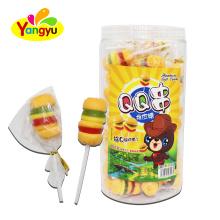 Halal Sweet Hamburger Gummy Lollipop Candy