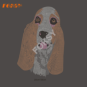 Lovely Dog Rhinestone Transfer Iron en diseños