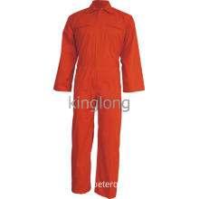 Orange Brass Zipper Breathable Fire Resistance Coverall