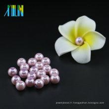 Mode Haute Qualité UA47 Purple Velours Verre Perles Perles Tchèque Faux Perles Bijoux Faisant Perles