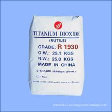 Dióxido de titanio de primer grado de rutilo de alta opacidad para la fabricación de papel de Slap-up