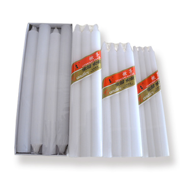 Pure paraffine wax white candles