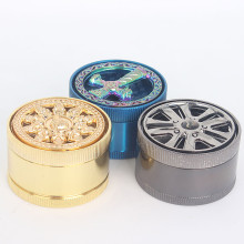 Top Quality Zinc Alloy Grinder for Tobacco Smoker (ES-GD-043)