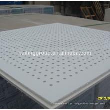 Placa de gesso de teto perfurada Linha de fabricação de gesso