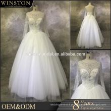 OEM fábrica anjo luva vestidos de noiva