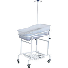 Durable Hospital Plastic New Born Baby Care Crib beds Trolley